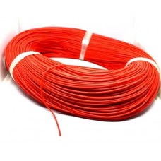 07-11-007RD. Провод монтажный многожильный 24AWG (0,21мм²), силиконовый, красный, 305м/бухта