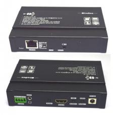 HDMI EXTENDER RX (приемник) + loopout (проходной HDMI) + Bi-directional IR + RS232, over IP, HSV895PoE