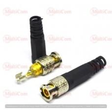 01-10-016. Штекер BNC (RG-59) под кабель, с пружиной, пластиковый