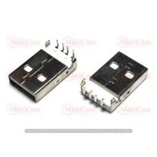 01-08-012. Штекер USB тип A монтажный, угловой