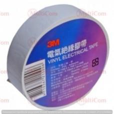 23-00-008W. Изолента электротехническая 3М, 18м/рулон, белая