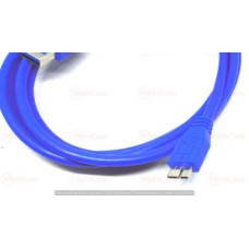 05-10-076. Шнур USB штекер А - штекер miсro USB с питанием, version.3.0, синий, 1,8м