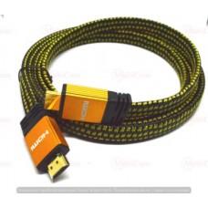 05-07-072. Шнур HDMI (штекер - штекер), version 1.4, плоский кабель, сетка, в тех. уп., 2м