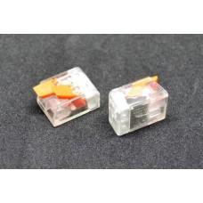 20-11-011. Клемма WAGO многоразовая с рычагами на 2 контакта, под кабель 0,08-2,5мм², прозрачная, РСТ-412
