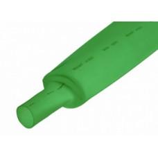 16-00-018GN. Термоусадка 1,0/0,5мм W-1-H (2х), матовая, подавляющая горение, зеленая, 1м