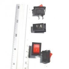 11-02-015. Переключатель KCD-1 (ON-OFF), 2pin, 6A-250V, красный