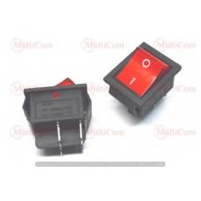 11-02-110RD. Переключатель широкий IRS-201-1С (ON-OFF), 4pin, 15A-250V, с подсветкой, красный