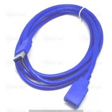 05-10-056. Шнур USB штекер А - гнездо A, version.3.0, синий, 1,8м