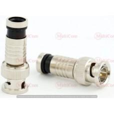 01-10-018. Штекер BNC (RG-59) под кабель, компрессионный, латунь