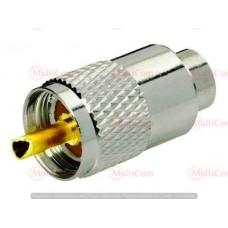 01-11-021. Штекер UHF (RG-58) накртука, под кабель, металл