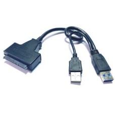 03-02-102. Переходник SATA 3.0 для подключения жесткого диска (2шт.USB- шт.SATA)