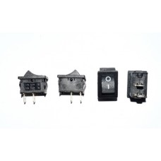 11-02-010BK. Переключатель MRS-101A (ON-OFF), 2pin, 6A-250V, черный