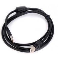 05-08-071. Шнур USB штекер A - штекер В, version 2.0, черный, 1,5м