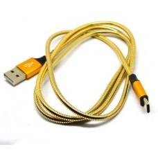 05-10-212. Шнур штекер USB type А - штекер USB type С, 1м., металл изоляция