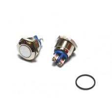 11-04-051. Кнопка антивандальная 16мм (OFF-ON), 2pin, 220V, выводы под винт, без фиксации