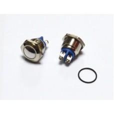 11-04-052. Кнопка антивандальная 16мм (OFF-ON), 2pin, 220V, выводы под винт, без фиксации