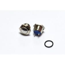 11-04-054. Кнопка антивандальная 16мм (OFF-ON), 2pin, 220V, выводы под винт, без фиксации