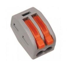 20-11-001. Клемма WAGO многоразовая с рычагами на 2 контакта, под кабель 0,08-2,5мм²