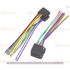 01-17-003. Разъём автомагнитолы ISO (гнездо) сдвоенный, CCA, с кабелем 20см