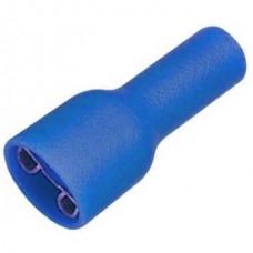 20-04-098. Клемма полностью изолир. плоская (4,8-0,5мм) под кабель 1,5-2,5мм², гнездо (F), синяя, 100шт/уп