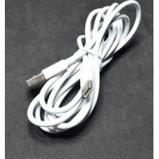 05-10-132. Шнур USB штекер А - штекер USB type C, белый, 2м