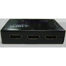 03-01-001. Свич 3 порта (суматор) HDMI (3 гнезда HDMI (IN) -> 1 гнездо HDMI (OUT)), с пультом