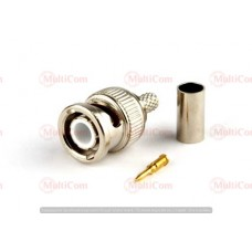 01-10-004. Штекер BNC (RG-58) под кабель, обжимной, металл