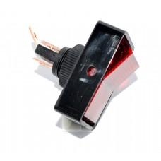 11-05-162OR. Перключатель автомобильный (ON-OFF), 3pin, 12V, 20А, с подсветкой, оранжевый