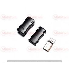 01-08-062. Штекер mini USB 5pin под кабель, разборной, черный