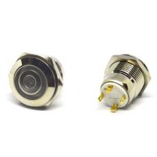 11-04-072. Кнопка антивандальная 16мм (OFF-ON), 4pin, 12V, с подсветкой, без фиксации