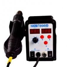 13-00-056. Паяльная станция 898D, с 2 дисплеями, паяльник + турбированный фен, HandsKit