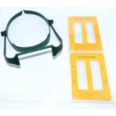 14-03-001. Лупа бинокуляр налобная, 4 сменных линзы, пластик: 1,6х; 2х; 2,5х; 3,5х, MG-81004