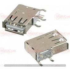 01-08-036. Гнездо USB тип A угловое монтажное