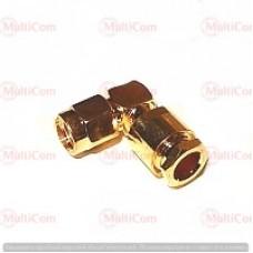 01-11-067. Штекер SMA (реверсный) (RG-58) угловой под кабель, латунь