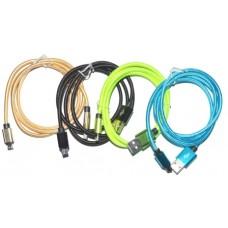 05-09-133. Шнур USB штекер А - штекер miсro USB, белый, 2м
