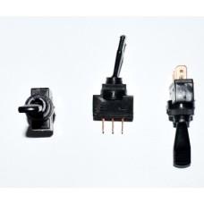 11-05-105. Тумблер ASW-13-103 (ON-OFF-ON), 3pin, 12V, 20А, с подсветкой