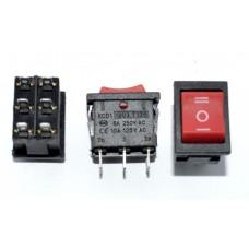 11-02-153RD. Переключатель клавишный MRS-203-3 (ON-OFF-ON), 6pin, 3A-250V, без подсветки, красный