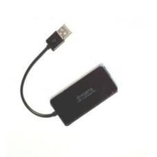 02-03-008. USB HUB (ver.2.0) на 4 порта, с кабелем, с поддержкой до 2Tb, черный, TD4005