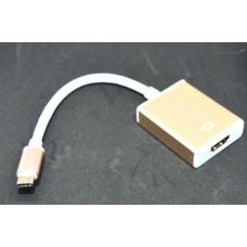 03-02-212. Адаптер USB type C → HDMI (штекер type C - гнездо HDMI), 4К, со шнуром 15см, в блистере