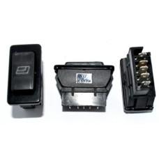 11-05-002. Переключатель cтеклоподъёмника ASW-02D, 12V, 20А, c подсветкой