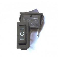 11-02-063. Переключатель узкий KCD-3 (ON-OFF-ON), 3pin, 20А-125V/15A-250V, чёрный