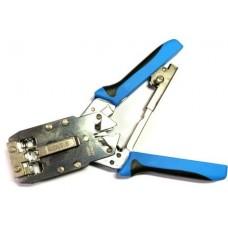 12-02-051. Инструмент обжимной для разъёмов 6р4с (RJ-11), 8p8c (RJ-45) 6-й категории, НТ-2810R
